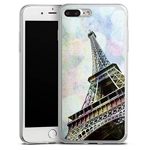 Apple iPhone X Slim Case Silikon Hülle Schutzhülle Eiffelturm Paris Frankfreich Silikon Slim Case transparent