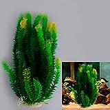 iDealhere 47cm Grün Gelb künstliche Aquarium Deko Pflanzen Wasserpflanzen Aqua Bouquet Plant