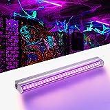 LED UV Luce, Lacyie Black Light Bar UV LED Stage Light Portatile ad alta luminosità Stage Light per la festa di nozze, discoteca DJ, Party, Bar, Stage (EU Plug)