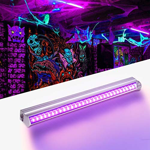 UV Beleuchtung UV Schwarzlicht LED Lichteffekt Bühnenlicht Led Bühnenscheinwerfer UV LED für Bar Beleuchtung für Party Bar Karneval Halloween & Weihnachten (12w) (Licht Halloween-party Alternative)