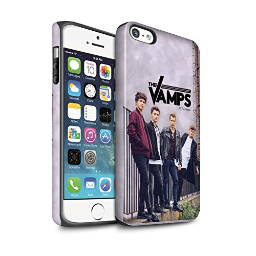 Offiziell The Vamps Hülle / Matte Harten Stoßfest Case für Apple iPhone 5/5S / Pack 6pcs Muster / The Vamps Fotoshoot Kollektion Sammelalbum
