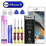 Icheckey Ersatz Akku für iPhone 6 Batterie 1810mAh Battery Lithium-Ionen Accu inkl. Reparaturset Klebestreifen (Nicht für iPhone 6S)