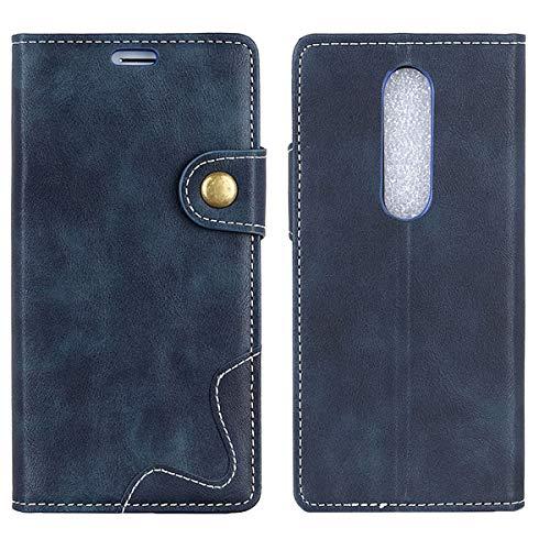 EUDTH Doogee BL5000 Hülle, PU Leder Kartenfach Geldklammer Hülle Leder Handy Schutzhülle Cover für Doogee BL5000 5.5