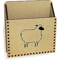 Azeeda 'Woolly Sheep' Wooden Letter Holder/Box (LH00033862)
