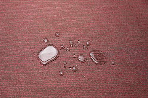 Escalano Möbelstoff Wasserfest Bezugsstoff Polsterstoff PVC beschichtet Stuhl Eckbank Sofa Hussen Stoff (ML81 Weinrot)