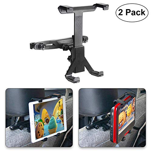 "POMILE Auto Kopfstützenhalterung für DVD Player, Verstellbare Autositz Kopfstütze Halterung für tragbare DVD-Player, Apple iPad Air / Mini, Samsung Galaxy Tab, Kindle Fire, 7"" ~ 12"" Tablets (2 Stück)"