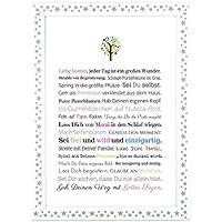 Taufe Geschenk Mädchen | personalisiertes Bild als Taufgeschenk für Kinder und Babies