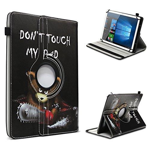 UC-Express Blaupunkt Discovery A10.302 Tablet Hülle Tasche Schutzhülle Case Schutz Cover 360° Drehbar 10.1 Zoll Etui, Farbe:Motiv 3