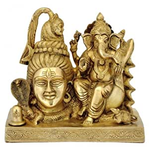 Redbag Ganesha with shiv Brass Statue