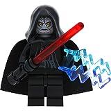 LEGO Star Wars Minifigur Emperator Palpatine aus Set 10188 Todesstern incl. 1 GALAXYARMS Schwert sowie 2 Machtblitze