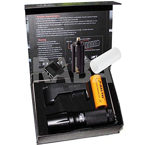 Taschenlampe 5000Lumen X900Flashlight stoßfest Taschenlampe LED wiederaufladbar, LED Kopflampe mit 1LED CREE T6ETANCHE à Regen, stoßfest