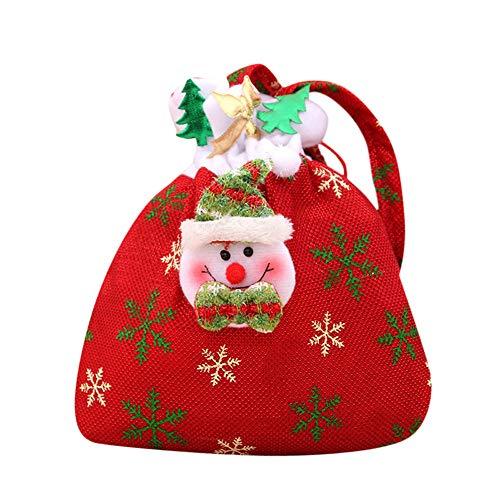 Mitlfuny Weihnachten Home TüR Dekoration 2019,Weihnachtsmann-Schneemann-Elch-Weihnachtssüßigkeit, die Weihnachtssüßigkeits-Dekoration -