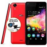 """Wiko Rainbow Up - Smartphone libre de 5"""" (ARM Cortex-A7, 1 GB de RAM, 8 GB de memoria interna) color coral"""