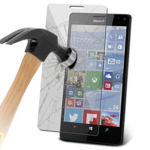 Étui pour Microsoft Lumia 950 Titulaire de téléphone Case voiture universel Mont Cradle Dashboard & pare-brise pour iPhone yi -Tronixs TempeRed + Glass (3 Pack)