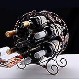 SLH Grape Leaves Sept Bouteilles de Wine Rack Présentoir Creative Bouteille De Vin Home Home European Wine Rack Accessoires
