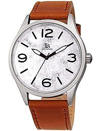 Joshua & Sons JX144 Designer - Reloj de Pulsera para Hombre, Correa de Piel auténtica