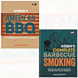 Weber's American Barbecue and Complete BBQ Smoking 2 Books Collection Set By Jamie Purviance - Recipes and tips for delicious smoked food on any barbecue