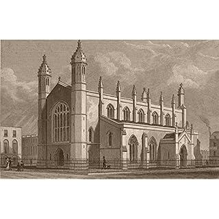 ISLINGTON. Holy Trinity Church, Cloudesley Square. SHEPHERD, old print 1828