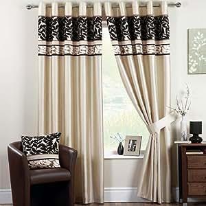 Dreams 39 n 39 drapes rideaux coniston illets noir 90 x 108 for Rideaux cuisine 70 x 90