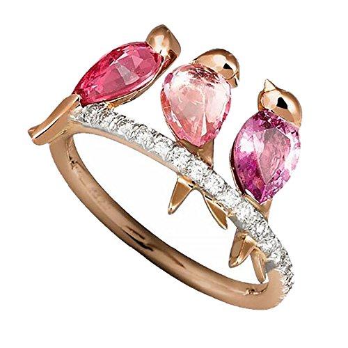 Loveso Fashion für Damen,Modeschmuck Ring Kristall Strass Elegante Schmuck Geschenke Kreativ Schmuck (Größe Fashion Ringe Damen 9)
