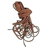 SPIRIT LINE 14 Mètres Cordon de Daim 3 mm 12 Lacets de 120cm. pour Bracelet/Collier/Artisanat Brown Brun