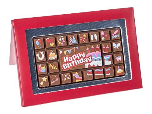 Boite cadeau - chocolats motif « Happy birthday » (joyeux anniversaire) - 70 g