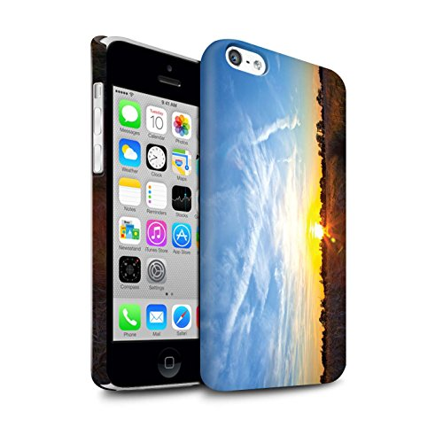STUFF4 Matte Snap-On Hülle / Case für Apple iPhone 5C / Tropische Bäume Muster / Sonnenuntergang Kollektion Blauer Himmel