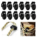 Fansport 12PCS Cord Lock con Coulisse Toggle Hole Spring Stopper per Lacci