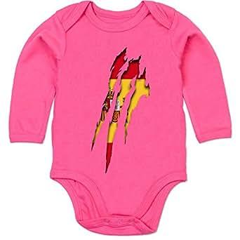 BZ30 Bio Baby Jungen Mädchen Strampler langarm ohne Bein – Städte & Länder Baby – Spanien Krallenspuren