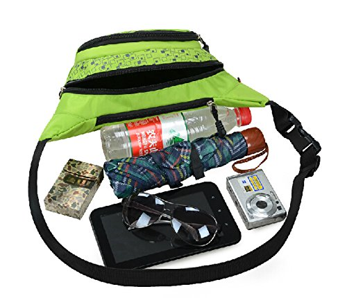Slim Wasser Widerstand Sportliche Travel Taille Tasche grün - grün