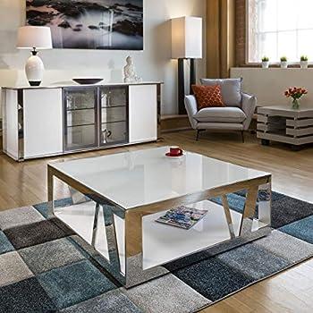 Avant Garde Modern Designer Large Round Coffee Table Glass Top