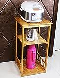 ERRU-Lagerung Regale Lagerregale Bodenständer Küche Zubehör Topf Regal Wohnzimmer Mehrschicht-Finishing Rack (Größe Optional) ( größe : 40*40*75cm )