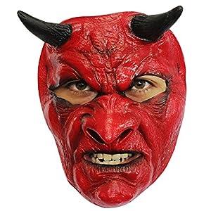 Aptafêtes AEC MAHAL634 - Máscara de diablo, látex, rojo, adulto