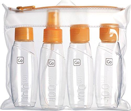 Design Go Reisezubehör 4er Flaschenset 100ml orange
