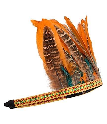 SIX Haarband Haarreif auffälliger Kopfschmuck im Indianer Style -