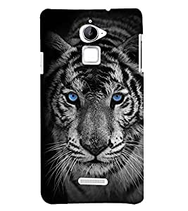 Fuson Premium Blue Eyed Tiger Printed Hard Plastic Back Case Cover for Coolpad Note 3 Lite