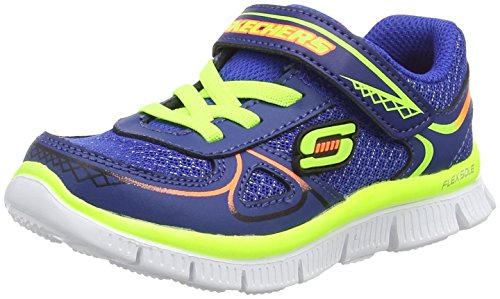 Skechers Flex Advantage mini Race Jungen Sneakers, Blau (RYYL), 23 EU (6 UK)