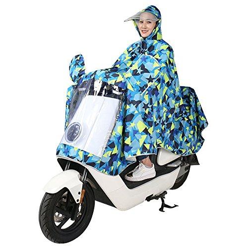 Huifang Vêtements de pluie QFFL Poncho Double Hat Masque Poncho Une Pièce Imperméable 2 Couleur Taille Optionnelle en Option imperméable