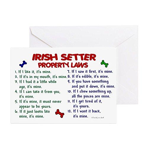 CafePress-Irish Setter Property Laws 2-Grußkarte, Note Karte, Geburtstagskarte, innen blanko, matt -