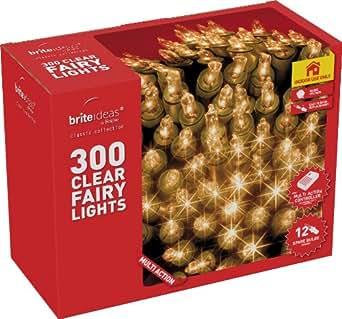 Brite Ideas Festive 300 Multiaction Fairy Lights, Clear