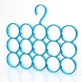#4: House of Quirk 15-Circle Scarf, Shawl, Tie, Belt Organizer-Blue