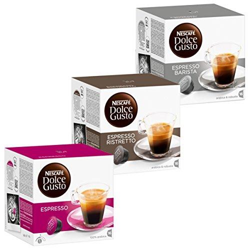 Order Nescafé Dolce Gusto Rapido Set: Espresso / Ristretto Barista Coffee Capsules, 3 x 16 Capsules - Nestlé