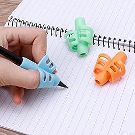 3 portapenne in silicone a due dita, per imparare a scrivere, per imparare a scrivere