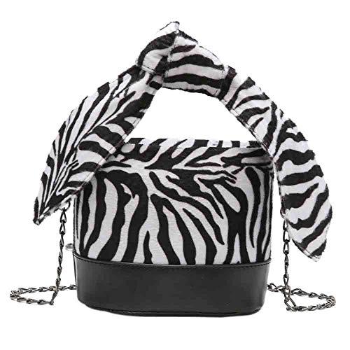 Mode Damen Leopard-Druck Schulter Tasche Bote Tasche Sexy Modus Glamourös Mini Klassisch Party Beiläufig Retro Eimer Tasche (Tasche Leopard-druck Schulter)