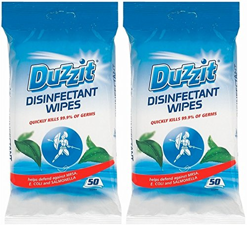2-x-duzzit-pack-of-50-disinfectant-wipes-kills-999-of-germs