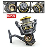 AmyGline Freilaufrolle Angelrolle RYOBI SLAM Angelrolle Aluminum Body Rotor Ultra Smooth 6+1 BB...