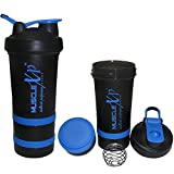 #7: MuscleXP AdvancedStak Protein Shaker for Professionals with Steel Ball