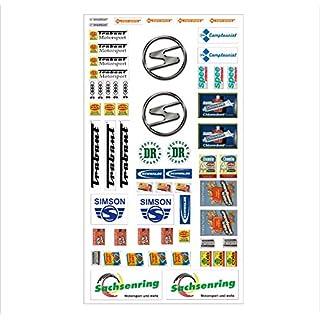Trabant Logo Autoaufkleber Sponsoren DDR Marken Decals Tuning Sticker Set