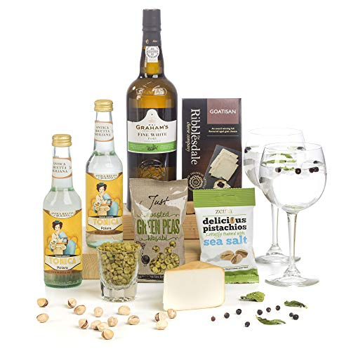 Hay Hampers -White Port & Tonic Gift Hamper Box - FREE UK Delivery