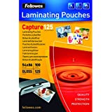 Fellowes Capture 54x86mm 125 Micron Glossy Laminating Pouches (Pack of 100)